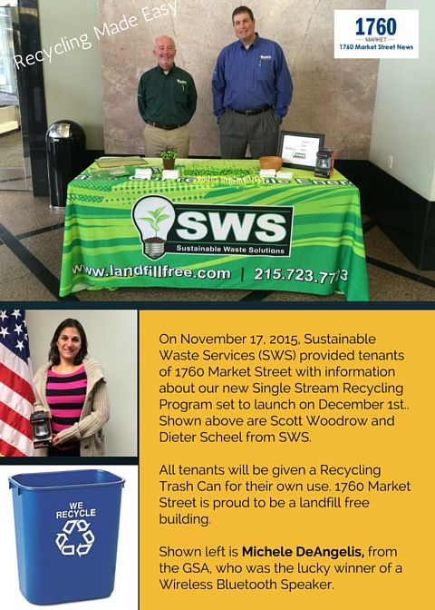SWS table promoting recycling
