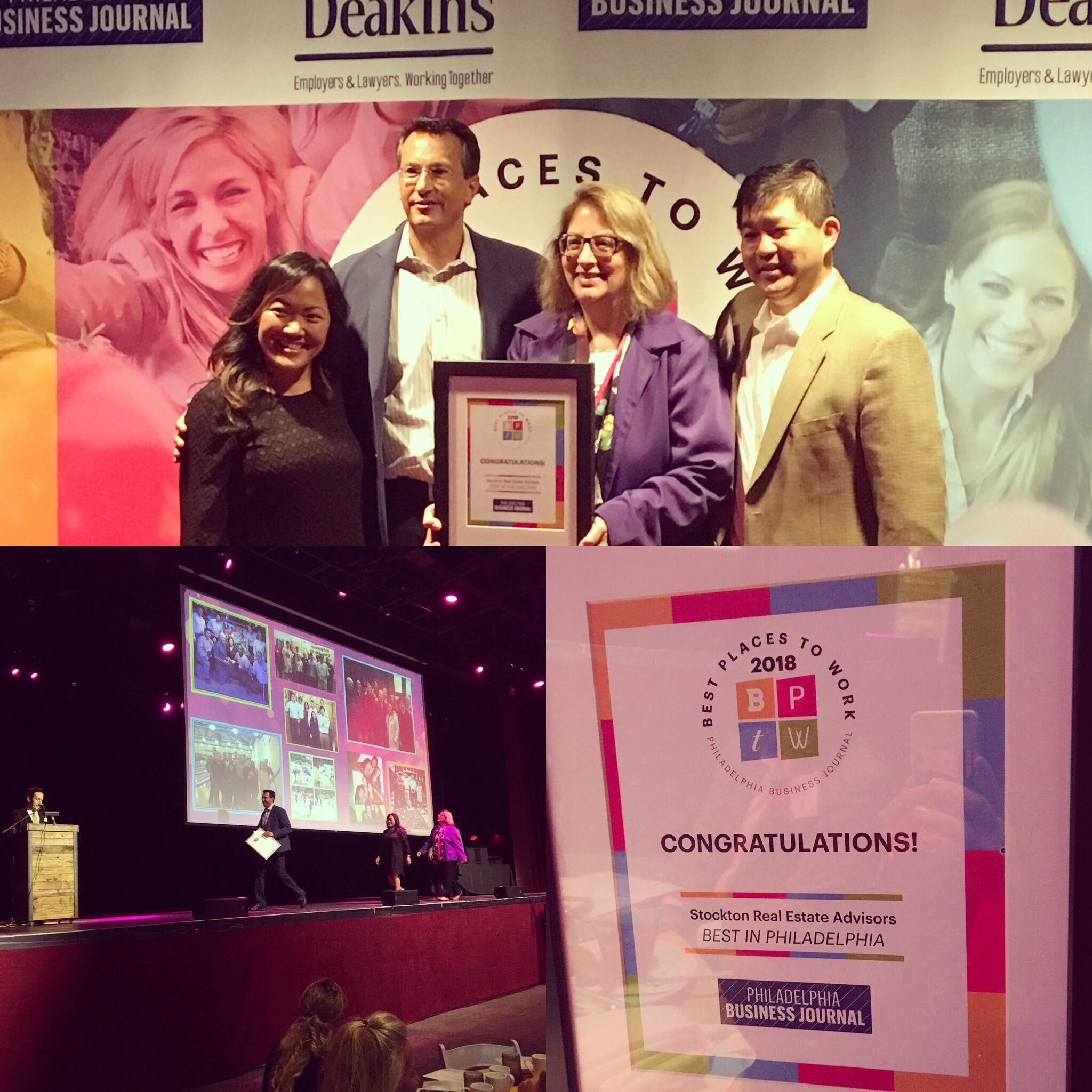 """15 1 - Stockton Real Estate Advisors, LLC Named """"Best Places To Work"""" by PBJ"""